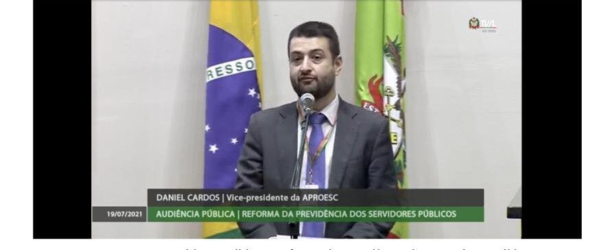 Reforma da Previdência: Aproesc alerta para a viabilidade jurídica da proposta durante audiência pública na Alesc